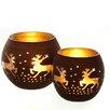 The Seasonal Aisle 2-tlg. Kerzenschalen Set aus Glas