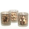 The Seasonal Aisle 3-Piece Glass Candle Holder Set