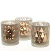 The Seasonal Aisle 3-tlg. Kerzenschalen Set aus Glas