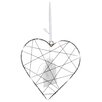 The Seasonal Aisle LED Web Metal Heart Hanging Figurine