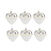 The Seasonal Aisle 6 Piece Heart and Pearl Glass Ornament Set (Set of 6)