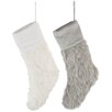The Seasonal Aisle Christmas Faux Fur Polyester Stockings (Set of 2) (Set of 2)
