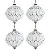 The Seasonal Aisle 4 Piece Glass Ball Ornament Set (Set of 4)