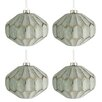The Seasonal Aisle 4 Piece Glass Ball Ornament Set