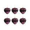 The Seasonal Aisle 6 Piece Heart Lace Glass Ball Ornament Set (Set of 6)