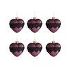 The Seasonal Aisle 6 Piece Heart Lace Glass Ball Ornament Set