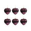 The Seasonal Aisle 6-tlg. Weihnachtskugel-Set Heart Lace aus Glas