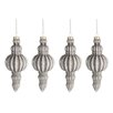 The Seasonal Aisle 4 Piece Ornament Glass Ball Ornament Set