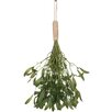 The Seasonal Aisle Mistletoe and Burlap 12 Parts Hanging