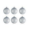 The Seasonal Aisle 6 Piece Glass Ball Ornament Set (Set of 6)