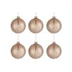 The Seasonal Aisle 6 Piece Glass Ball Ornament Set (Set of 6)