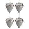 The Seasonal Aisle 4 Piece Heart Open Ornament Set (Set of 4)