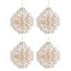 The Seasonal Aisle 4 Piece Ornament Glass Ball Ornament Set