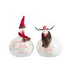 The Seasonal Aisle 2 Piece Chicken Christmas Ceramic Set