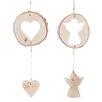 The Seasonal Aisle 2 Piece Angel and Heart Hanging Figurine Set