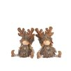 The Seasonal Aisle Sitting Children in Reindeer Costume (Set of 2)