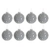 The Seasonal Aisle 8 Piece Round Glass Ball Ornament Set (Set of 8)