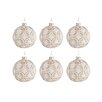 The Seasonal Aisle 6 Piece Round Glass Ball Ornament Set (Set of 6)