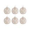 The Seasonal Aisle 6 Piece Round Glass Ball Ornament Set