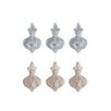 The Seasonal Aisle 6 Piece Ornament Glass Ornament Set (Set of 6)