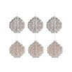 The Seasonal Aisle 6 Piece Ornament Glass Ornament Set (Set of 6)