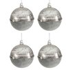 The Seasonal Aisle 4 Piece Round Open Ball Ornament Set (Set of 4)