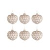 The Seasonal Aisle 6 Piece Pinecone Ball Glass Ball Ornament Set