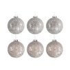 The Seasonal Aisle 6 Piece Round Glass Ball Ornament Set (Set of 6)