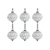 The Seasonal Aisle 6 Piece Glass Ball Ornament Set