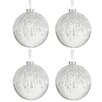 The Seasonal Aisle 4 Piece Round Pearls Glass Ball Ornament Set (Set of 4)