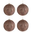 The Seasonal Aisle 4 Piece Rhinestone Glass Ball Ornament Set (Set of 4)