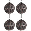 The Seasonal Aisle 4 Piece Glass Ball Ornament Set (Set of 4)