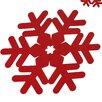 The Seasonal Aisle Snowflake Table Mat (Set of 4)