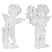 The Seasonal Aisle 2-tlg. Figuren-Set Engel Roses