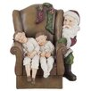 The Seasonal Aisle Weihnachtsschmuck Chair and Child and Santa Claus