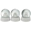 The Seasonal Aisle 3 Piece Snow Globe See and Hear and Speak No Evil Set