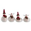 The Seasonal Aisle 4 Piece Chicken Christmas Ceramic Set