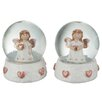 The Seasonal Aisle 2 Piece Snow Globe Angel Set