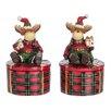 The Seasonal Aisle 2 Piece Box Reindeer Figurine Set