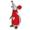 The Seasonal Aisle 2-tlg. Stofffigur Standing Mouse