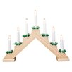 The Seasonal Aisle Pine Wooden Candle Bridge 7 Light Lamp