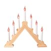 The Seasonal Aisle Pine Flickering Candle Bridge 7 Light Lamp