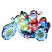 The Seasonal Aisle Santa - Bike Moving Silhouette