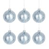 The Seasonal Aisle 6 Piece Snowy Glass Ball Ornament Set (Set of 6)