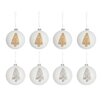 The Seasonal Aisle 8 Piece Tree Glass Ball Ornament Set (Set of 8)