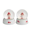 The Seasonal Aisle 2 Piece Mushroom Snow Globe Set