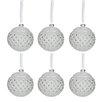 The Seasonal Aisle 6 Piece Round Stones Ball Ornament Set (Set of 6)