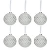 The Seasonal Aisle 6 Piece Round Stones Ball Ornament Set