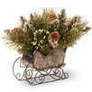 The Seasonal Aisle Glittery Bristle Pine Sleigh