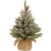 The Seasonal Aisle Snowy Concolor Fir Tree Burlap